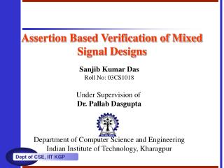 Assertion Based Verification of Mixed Signal Designs