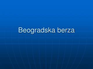 Beogradska berza