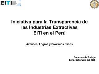 Comisión de Trabajo Lima, Setiembre del 2008