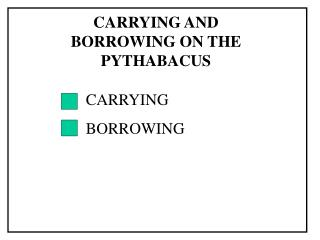 CARRYING BORROWING
