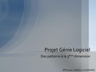 Projet Génie Logiciel