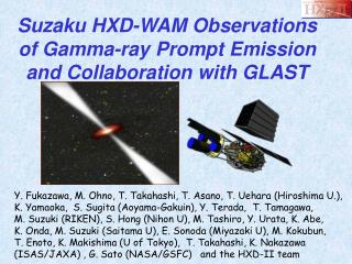 Suzaku HXD-WAM Observations of Gamma-ray Prompt Emission and Collaboration with GLAST