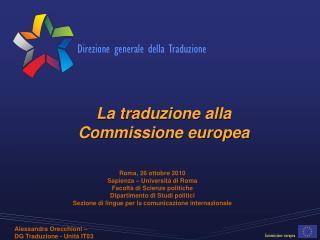 La traduzione alla  Commissione europea