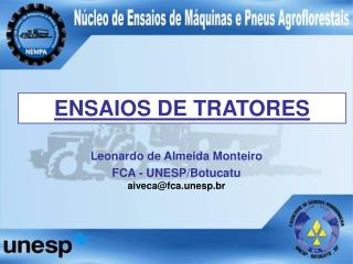 ENSAIOS DE TRATORES
