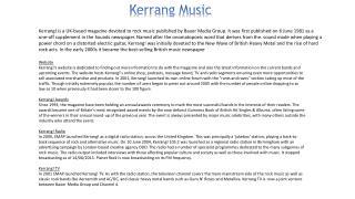 Kerrang Music