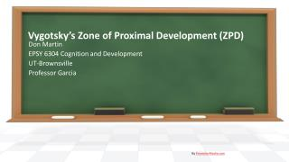Vygotsky's Zone of Proximal Development (ZPD)