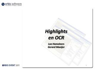 Highlights en OCR Loe Hameleers Gerard  Maeijer