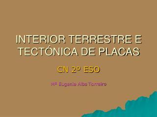 INTERIOR TERRESTRE E TECTÓNICA DE PLACAS