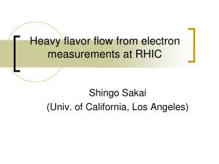 Heavy flavor flow from electron measurements at RHIC