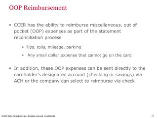 OOP Reimbursement