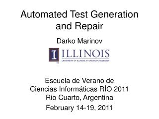 Automated Test Generation and Repair