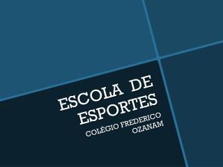 ESCOLA  DE ESPORTES
