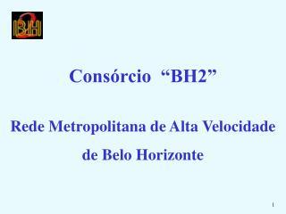 """Consórcio  """"BH2"""" Rede Metropolitana de Alta Velocidade de Belo Horizonte"""