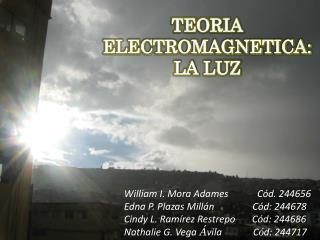 TEORIA ELECTROMAGNETICA:  LA LUZ