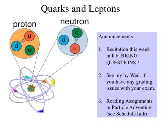 Quarks and Leptons