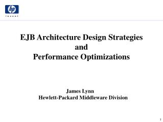 EJB Architecture Design Strategies and Performance Optimizations