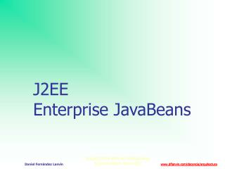 J2EE Enterprise JavaBeans
