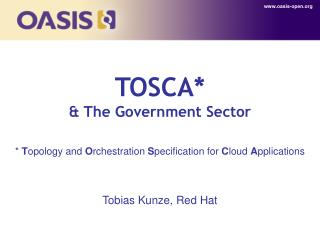 TOSCA* & The Government Sector