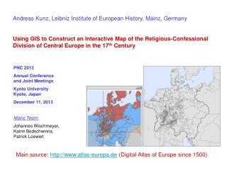 Andreas Kunz, Leibniz Institute of European History, Mainz, Germany