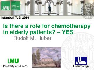 Is there a role for chemotherapy in elderly patients? – YES
