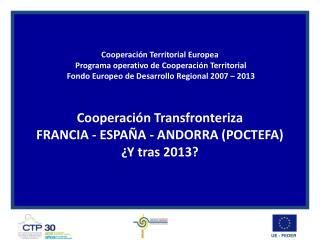 Fundamentos de la Cooperación territorial europea