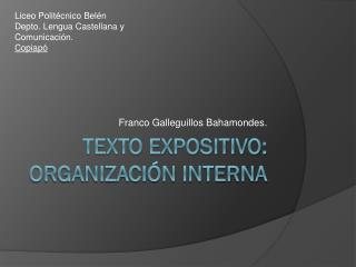Texto Expositivo: Organización Interna