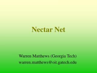 Nectar Net