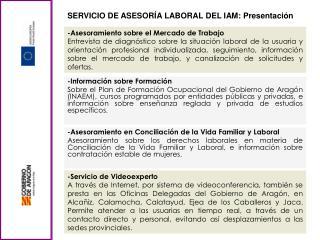 SERVICIO DE ASESORÍA LABORAL DEL IAM: Presentación