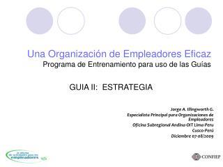Una Organización de Empleadores Eficaz Programa de Entrenamiento para uso de las Guías
