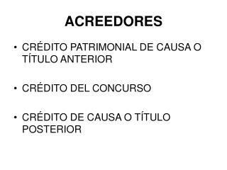 ACREEDORES