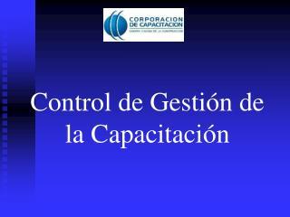 Control de Gestión de la Capacitación