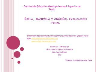 Biela, manivela y cigüeñal evaluación final