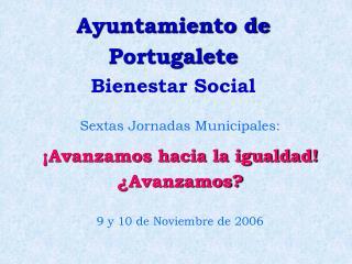 Ayuntamiento de Portugalete Bienestar Social
