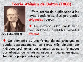 Teor�a At�mica de Dalton (1808)
