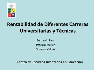 Rentabilidad de Diferentes Carreras Universitarias y Técnicas