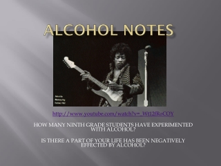 Alcohol Notes
