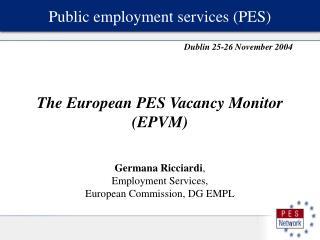 Public employment services (PES)