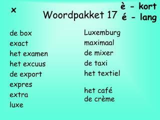 Woordpakket 17