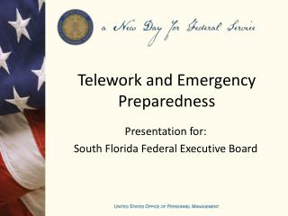 Telework and Emergency Preparedness
