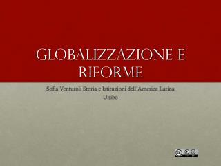 Globalizzazione e riforme