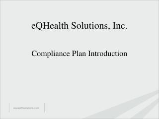 eQHealth Solutions, Inc.