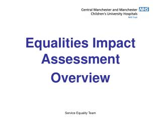 Equalities Impact Assessment