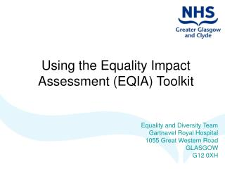 Using the Equality Impact  Assessment (EQIA) Toolkit