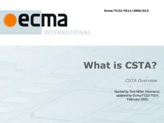 What is CSTA
