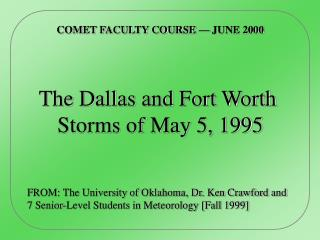 COMET FACULTY COURSE — JUNE 2000