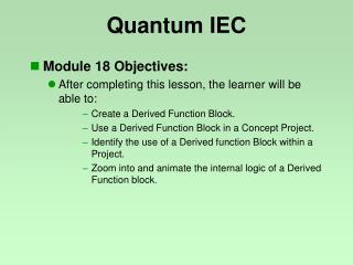 Quantum IEC