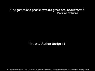 Intro to Action Script 12