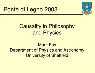 Causality in Philosophy  and Physics
