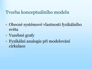 Tvorba konceptuálního modelu