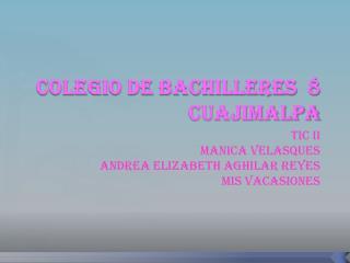 COLEGIO DE BACHILLERES  8 CUAJIMALPA